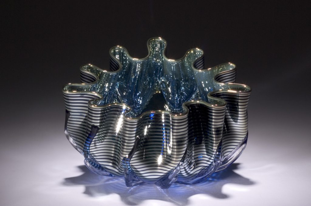 Metallic Striped Splash Bowl