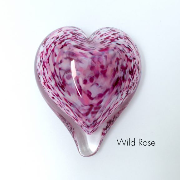 Wild Rose Heart Paperweight