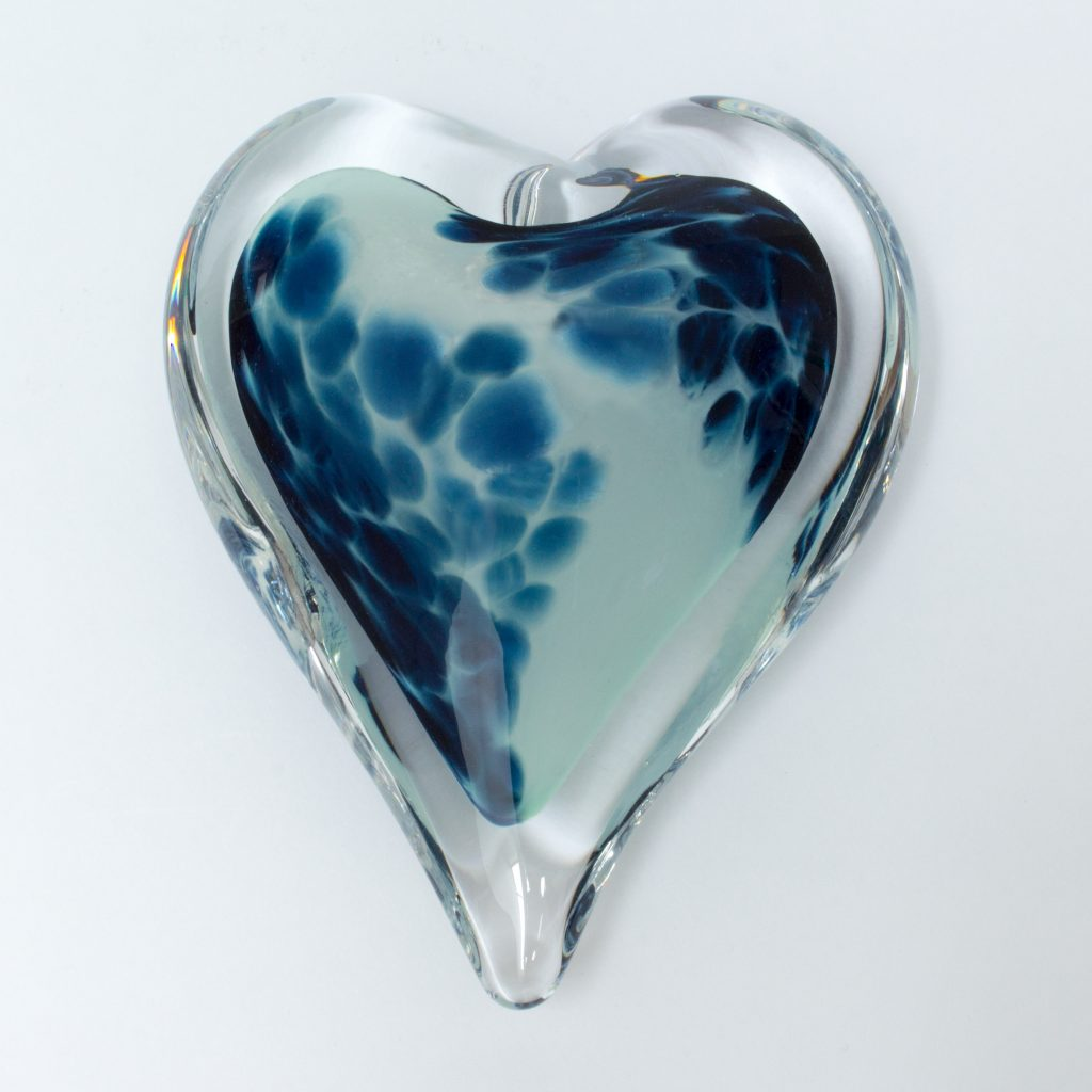 Before the Storm Heart Paperweight