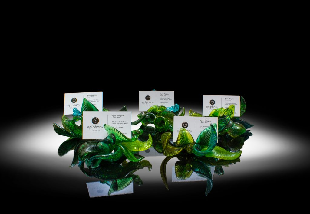 Leaf Business Card Holder