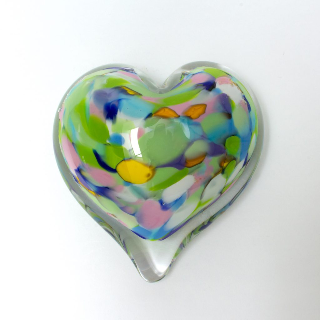 Party Mix Heart Paperweight