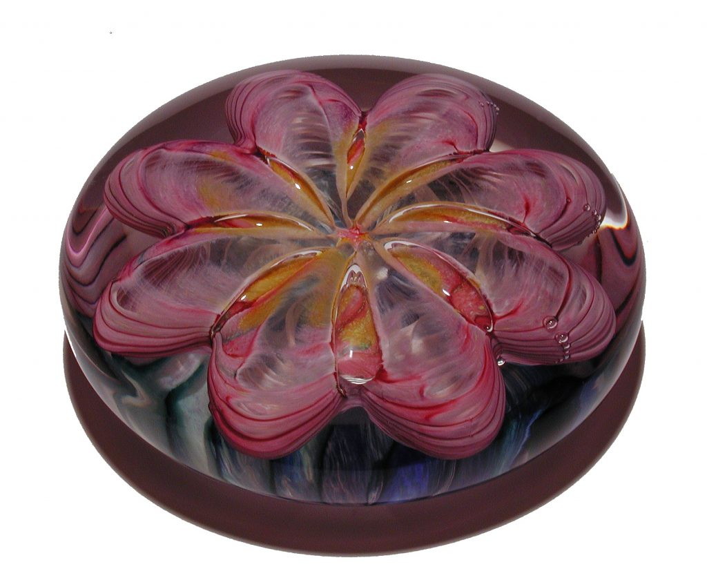 Pink Ruby Gold Paperweight