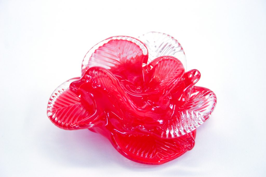 Red Flower Paperweight