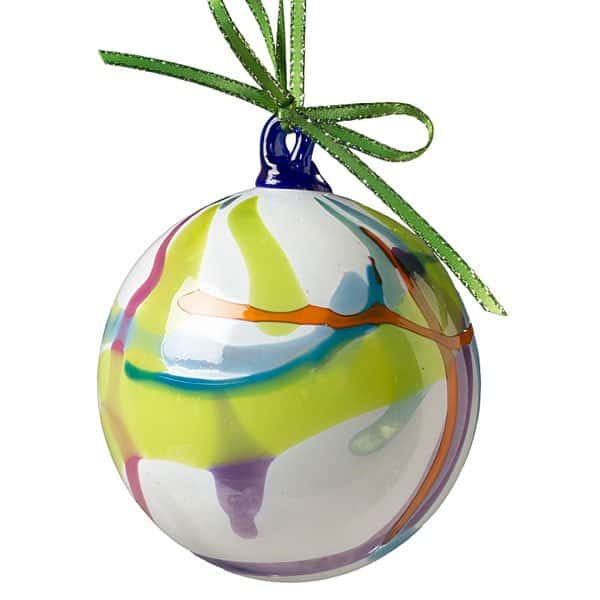White Swirled Ornament