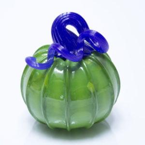 Green Pumpkin with Blue Stem