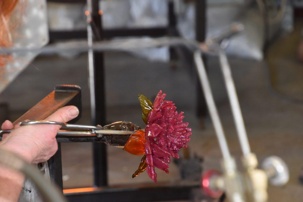 Karen making a flower