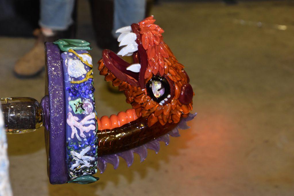 Glass Mardi Gras Dragon Float
