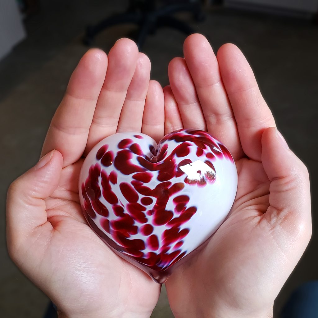 Glass hearts for healthcare workers