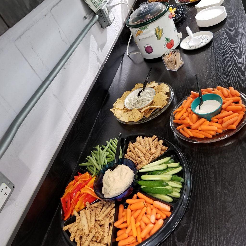 Spring Show Food Spread