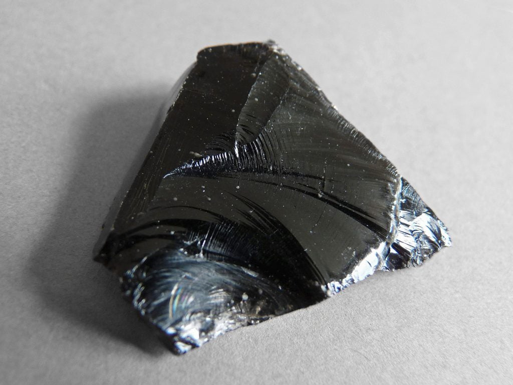 Obsidian is a type of volcanic rock.