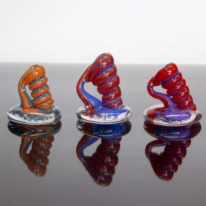 Red Swirl Pen Holders