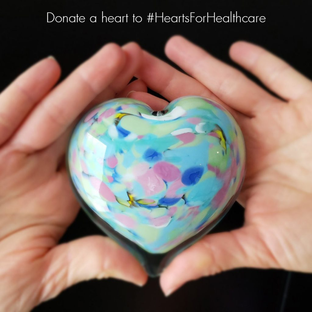 Donate a heart paperweight to #HeartsForHealthcare