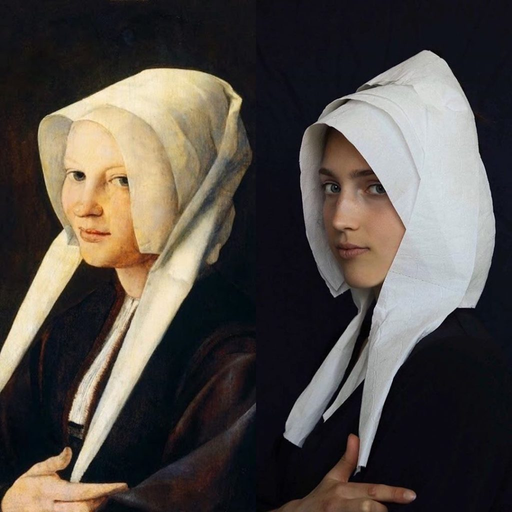 People are recreating famous artworks