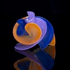 Purple, Blue and Orange Curls