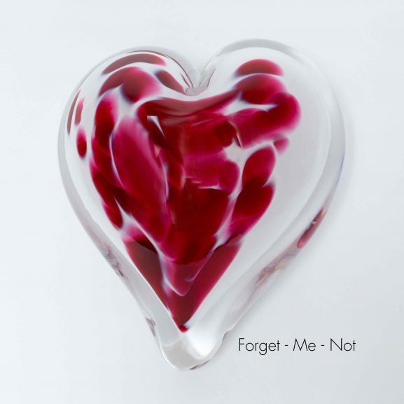 Forget-Me-Not Heart Paperweight
