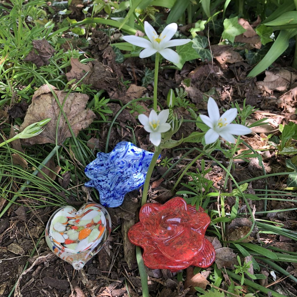 Paperweights add something special to a garden