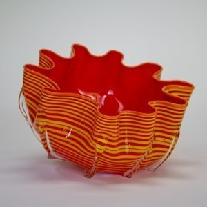 Orange Striped Splash Bowl