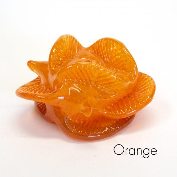 Orange Flower Paperweight