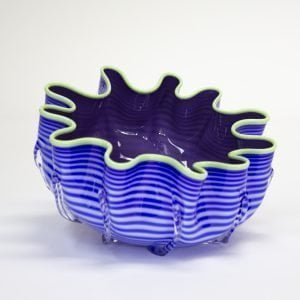 Blue & Dark Purple Splash Bowl