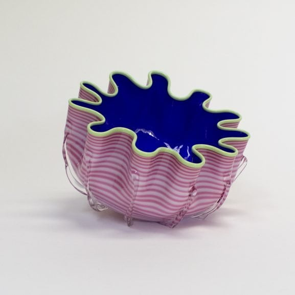 Pink & Blue Splash Bowl