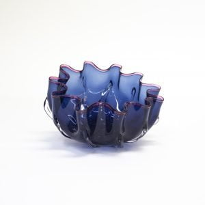 Transparent Blue Splash Bowl