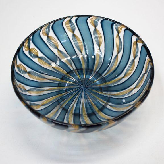 Blue & Gold Zanfirico Bowl