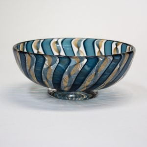 Blue & Gold Zanfirico Bowl