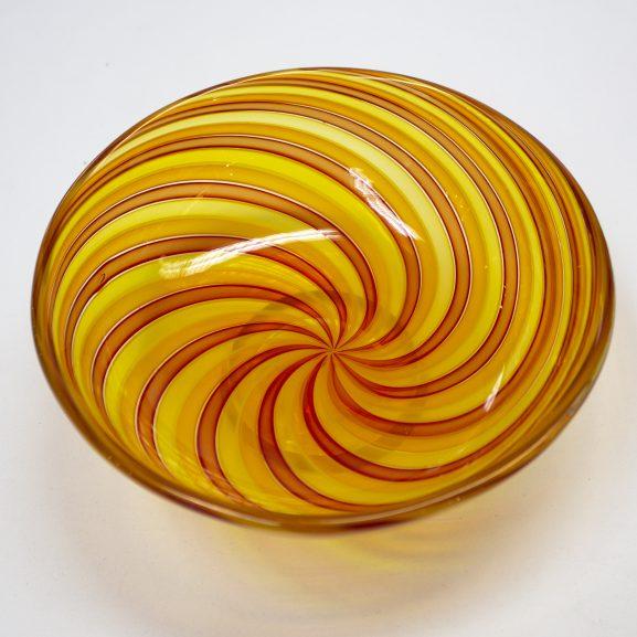 Orange Swirl Zanfirico Bowl
