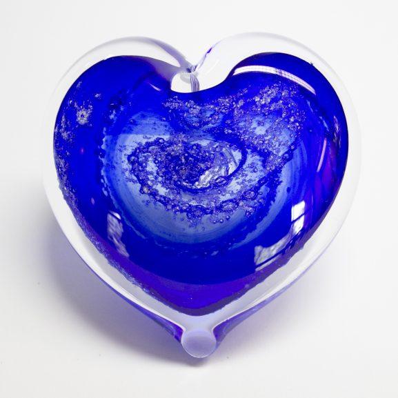 Blue Heart Paperweight