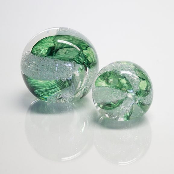 Green Paperweight & Marble