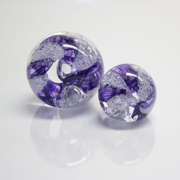 Purple Paperweight & Marble