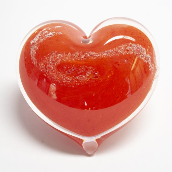 Red Heart Paperweight