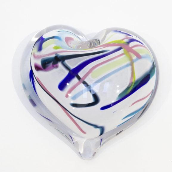 Kaleidoscope Heart Paperweight