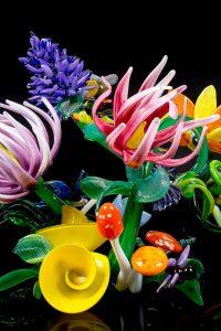 glass flower sculpture